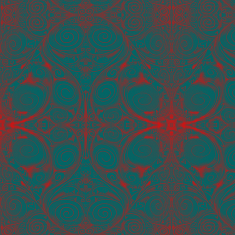 Moody Valentines Damask fabric by blueberryblonde on Spoonflower - custom fabric