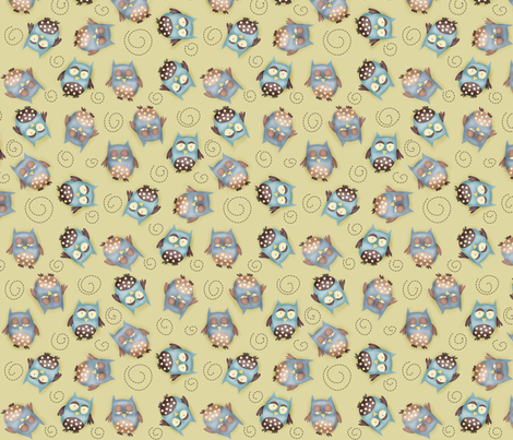 Baby Boy - Hoot hoots around fabric by catru on Spoonflower - custom fabric