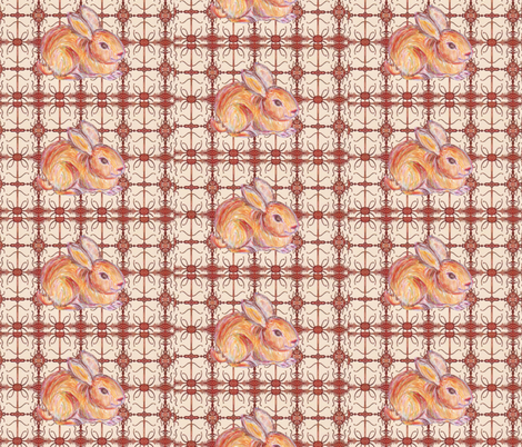 JamJax Easter Bunny fabric by jamjax on Spoonflower - custom fabric