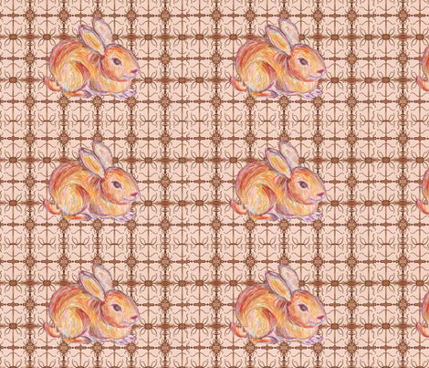 JamJam Bunny Buddy fabric by jamjax on Spoonflower - custom fabric