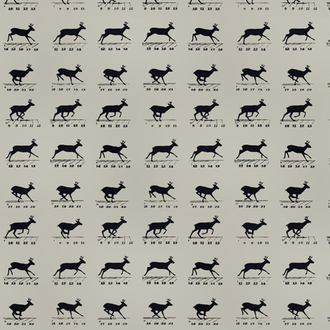 Deer movement fabric by ravynka on Spoonflower - custom fabric