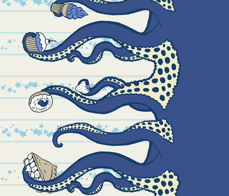 Navy Octopus Sweets fabric by octopussweets on Spoonflower - custom fabric