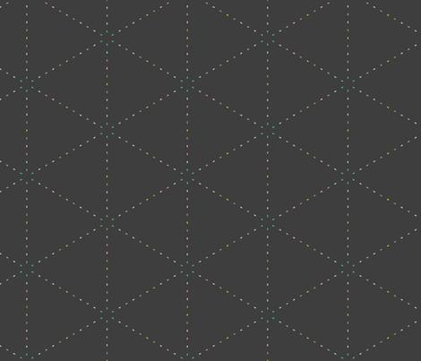 Pastel triangles on graphite fabric by ravynka on Spoonflower - custom fabric