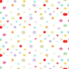 A 4 February 2011 - colorful polkadots watercolor fabric