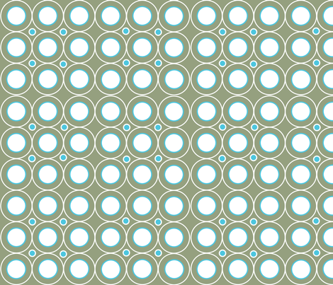 Circle Circle (Olive/Turquoise) fabric by designedtoat on Spoonflower - custom fabric