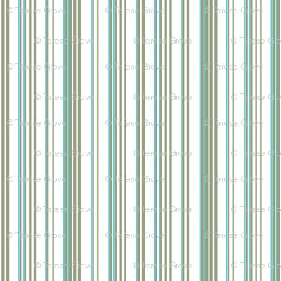 Stripe Stripe (Olive/Turquoise)