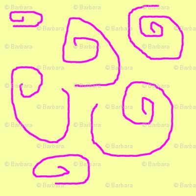 Spiffy_Spirals_-_pink_on_yellow