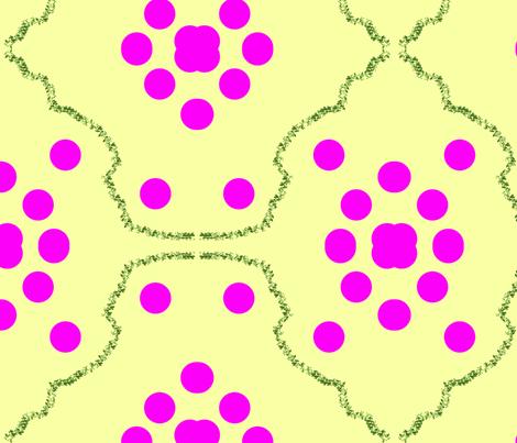 PinkDotz_with_Vine fabric by weaver_phoenyx_aka_birdy on Spoonflower - custom fabric