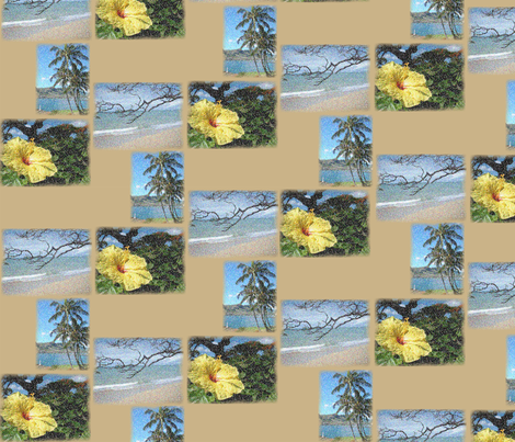 Tropical Patchwork fabric by dawnams on Spoonflower - custom fabric