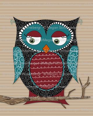 Owlivia the Owl with stripes