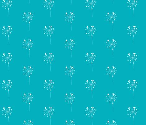 Dandelion Hearts fabric by meg56003 on Spoonflower - custom fabric