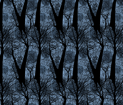 Trees at Dusk fabric by rayne on Spoonflower - custom fabric