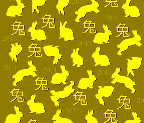 year_rabit fabric by mo_redmond on Spoonflower - custom fabric