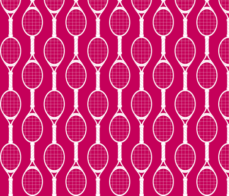 Magenta Rackets fabric by audreyclayton on Spoonflower - custom fabric
