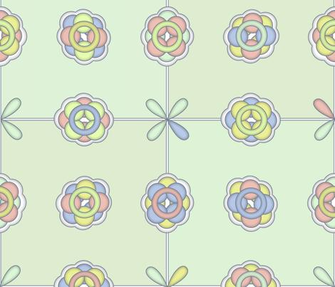 ©2011 molecular fabric by glimmericks on Spoonflower - custom fabric