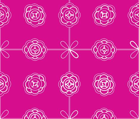 ©2011 molecular magenta fabric by glimmericks on Spoonflower - custom fabric