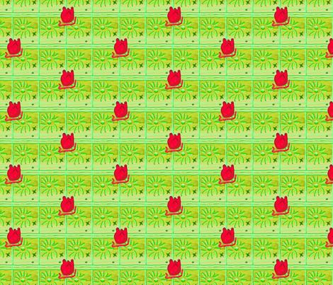 Heart 2 Heart-Green fabric by kkitwana on Spoonflower - custom fabric