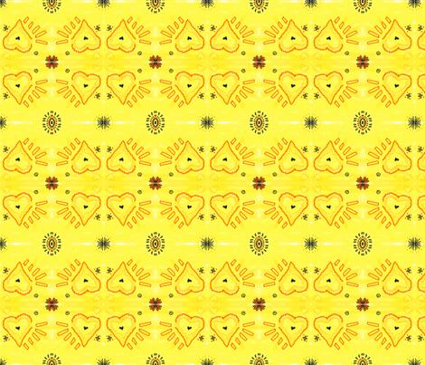 Heart 2 Heart-Yellow COMP fabric by kkitwana on Spoonflower - custom fabric