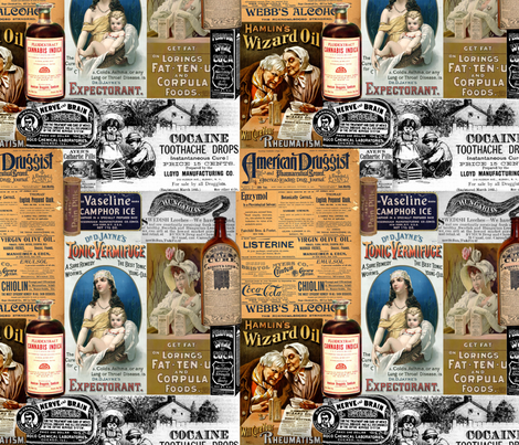 Old-Timey Druggist fabric by tamarack on Spoonflower - custom fabric