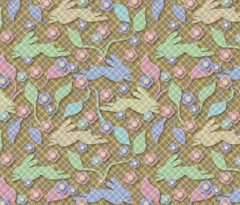 Some Bunnies Are Mad About Plaid fabric by vo_aka_virginiao on Spoonflower - custom fabric