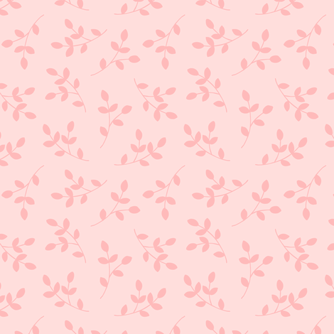 Pretty Pink Leaves fabric by pattysloniger on Spoonflower - custom fabric