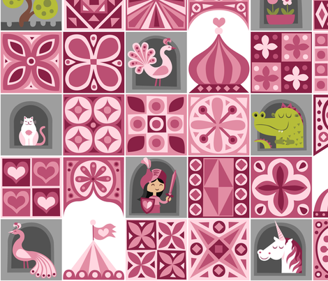 knight of hearts fabric by dennisthebadger on Spoonflower - custom fabric