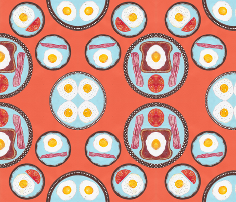 JamJax Break Eggs Lite fabric by jamjax on Spoonflower - custom fabric