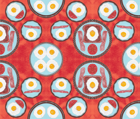 JamJax Break Eggs fabric by jamjax on Spoonflower - custom fabric