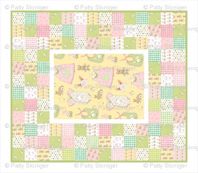 Cheater Quilt - Bunnies for Babies