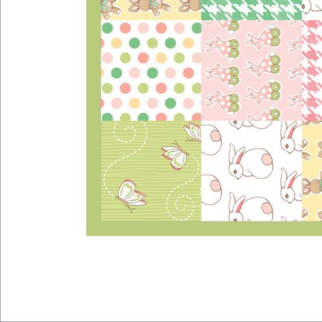 Cheater Quilt - Bunnies for Babies fabric by pattysloniger on Spoonflower - custom fabric