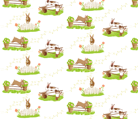 Bunny Jumpers fabric by dusty_pony_design on Spoonflower - custom fabric