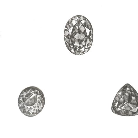 Pencil Jewels fabric by aspoonfulofthea on Spoonflower - custom fabric
