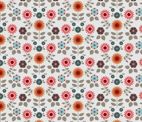 retro flowers 3 fabric by troismiettes on Spoonflower - custom fabric