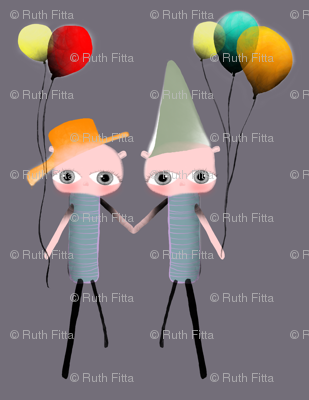 A 7 Febrero 2011 - Forever Twins friendship puppet