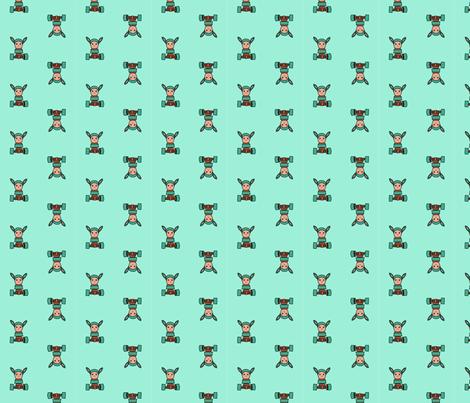 robunny fabric by cshumanmiller on Spoonflower - custom fabric