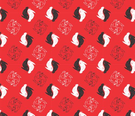 LaraGeorgine_Year_of_the_Rabbit_1 fabric by larageorgine on Spoonflower - custom fabric