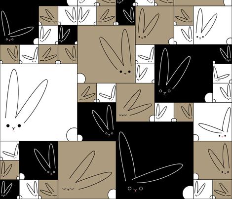 Bunnies fabric by chris on Spoonflower - custom fabric