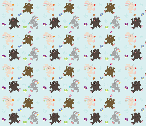 bunnies_with_eggs fabric by yellowkitty on Spoonflower - custom fabric
