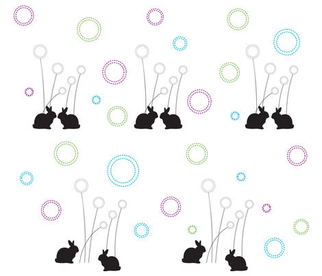 Rabbits in love fabric by kangaroopals on Spoonflower - custom fabric