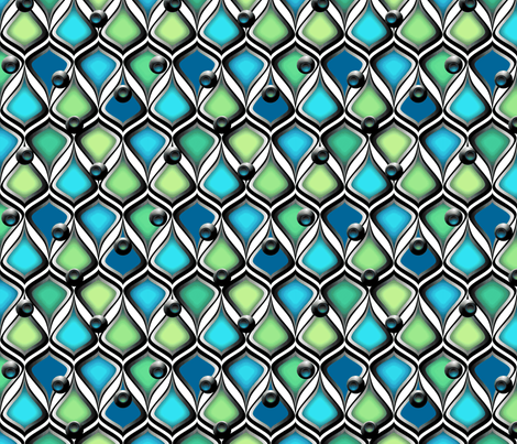 Dragon Scales fabric by glimmericks on Spoonflower - custom fabric
