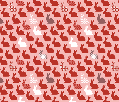 lapins-rouges fabric by milto42 on Spoonflower - custom fabric
