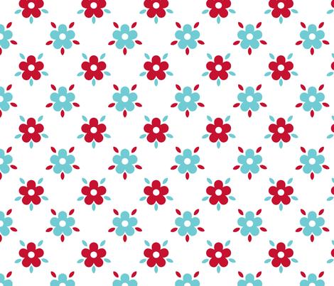 fleurettes_fond_blanc fabric by nadja_petremand on Spoonflower - custom fabric
