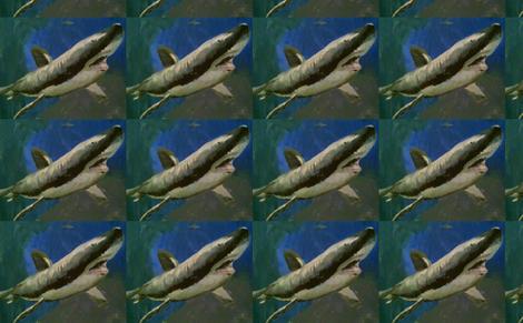 Shark Attack fabric by funkaestudio on Spoonflower - custom fabric