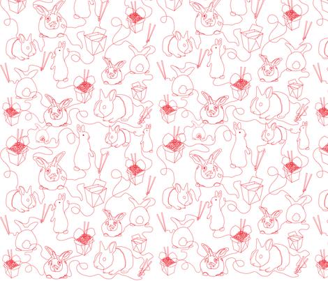 2011_Year_of_Rabbit fabric by wubba_zang on Spoonflower - custom fabric