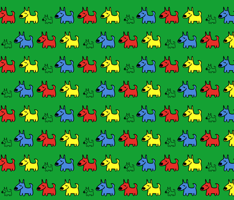 hunde2 fabric by rikidesign on Spoonflower - custom fabric