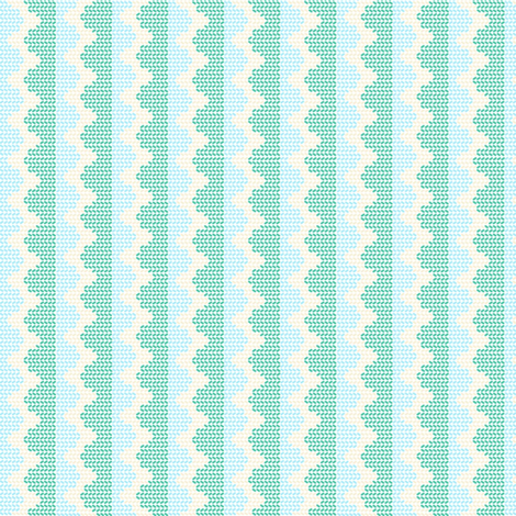 """KNITTY in """"OCEAN"""" & """"SEAGLASS"""" fabric by trcreative on Spoonflower - custom fabric"""