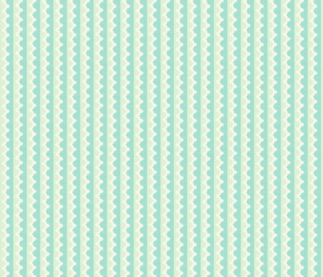 """KNITTY in """"SEAGLASS"""" & """"PEA"""" fabric by trcreative on Spoonflower - custom fabric"""