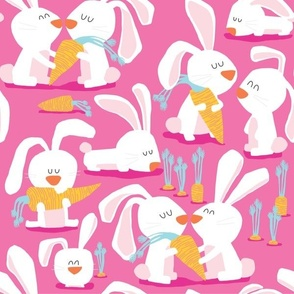 year of the rabbit-pink
