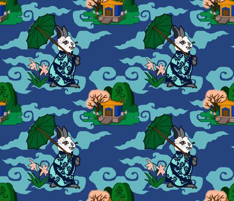 Rabbit Spring - Light fabric by rayne on Spoonflower - custom fabric