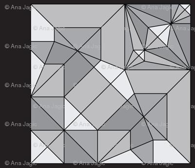 Oribunny or Origami Rabbit Unfolded